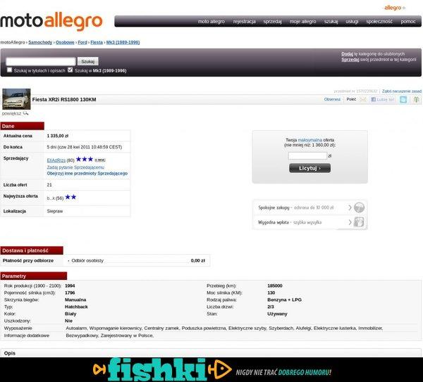 Ciekawa aukcja - Fiesta XR2i - zdjęcie 1