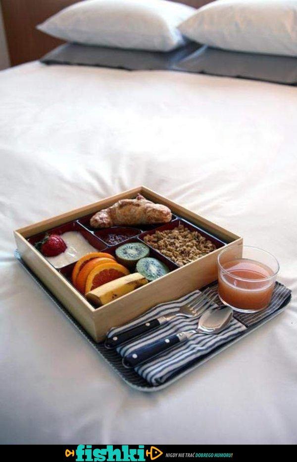 śniadanie Do łóżka Fishkipl