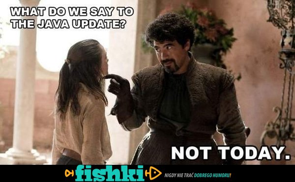 What do we say to?