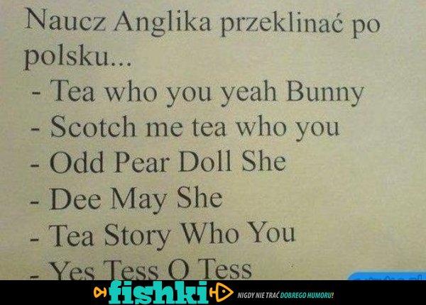 anglik przeklina po polsku