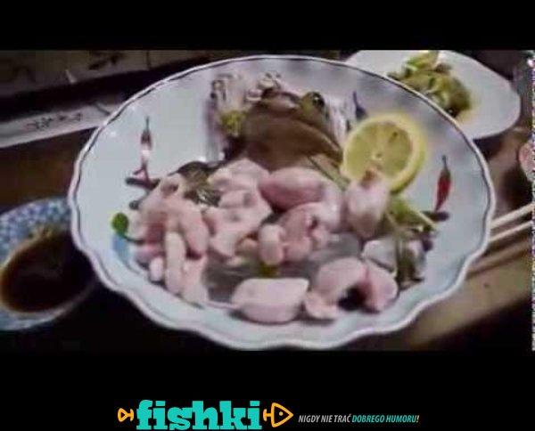 Japoński przysmak - żywe żaby