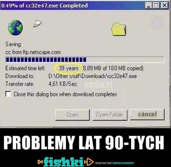 Problemy lat 90-tych
