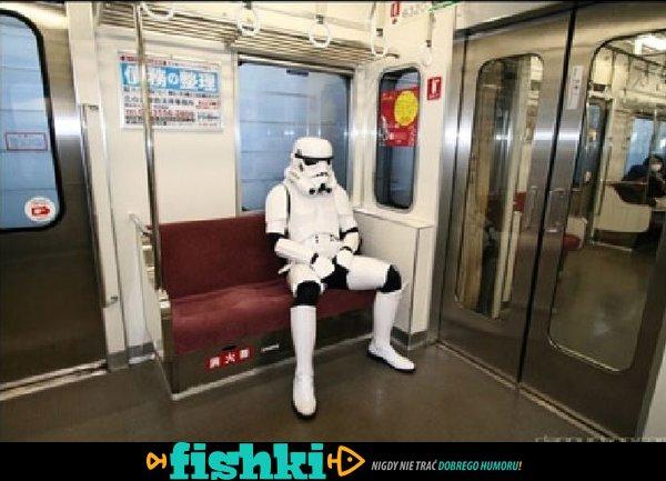 Takie tam w metrze.
