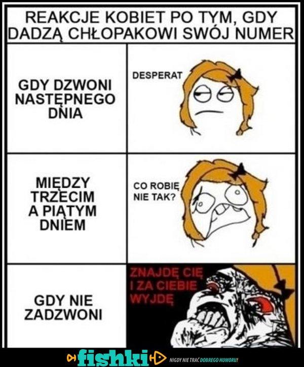 Reakcja kobiety