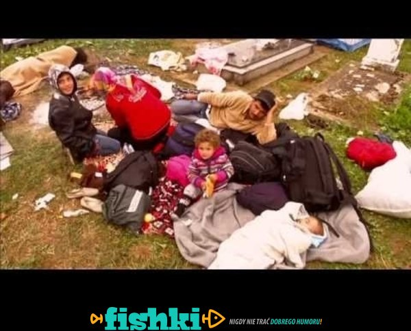 W Chorwacji muzułmańscy imigranci śpią na grobach