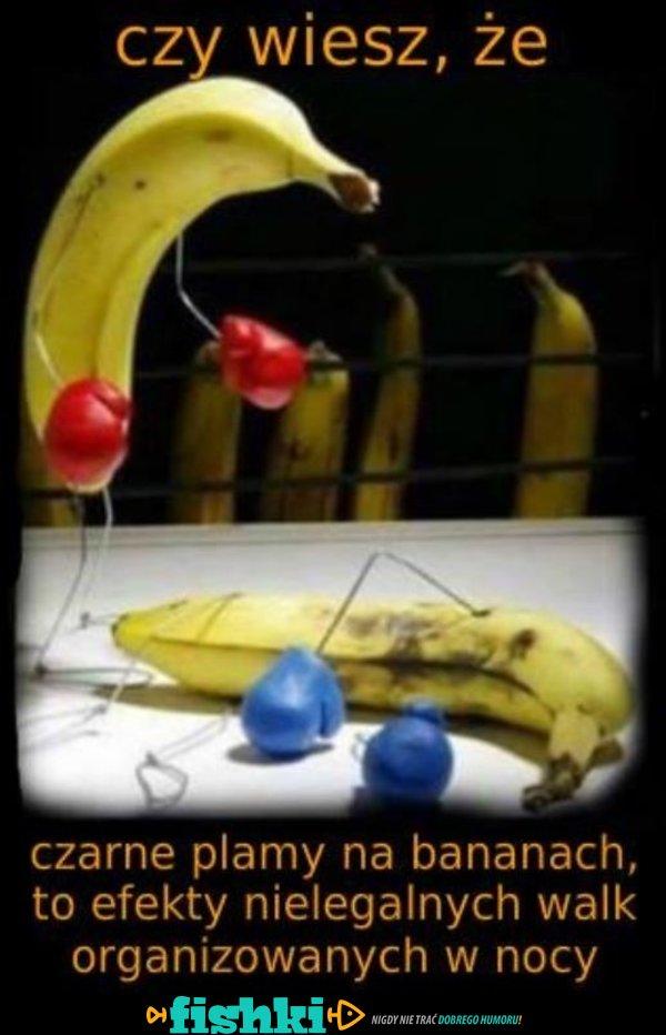 Dlaczego banany mają czarne plamy?