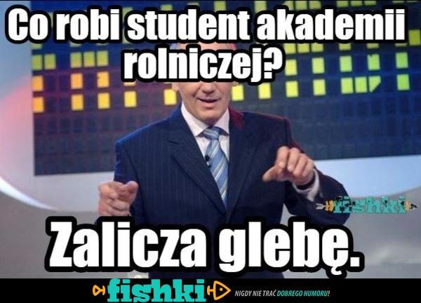 Co robi student?