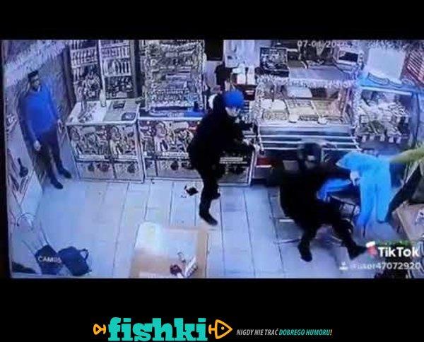 Rosyjskie walki w sklepie