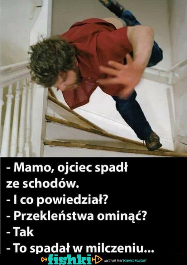 Ojciec spadł ze schodów