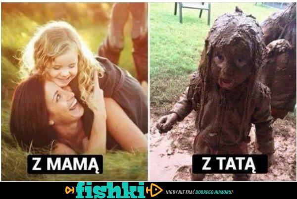 Zabawa z mamą...