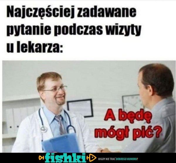 To pytania często pada u lekarza