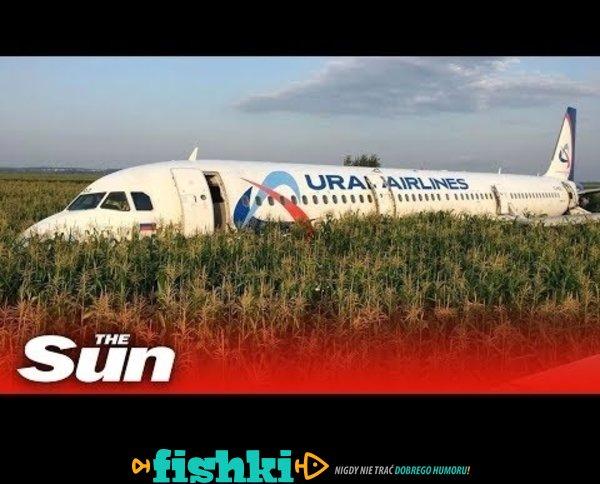 Zobacz nagranie z awaryjnego lądowania samolotu