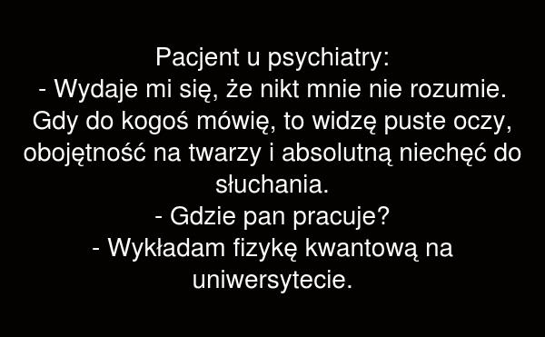 Pacjent u psychiatry: