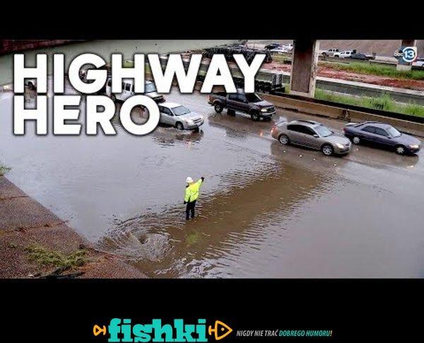 Bohater na autostradzie