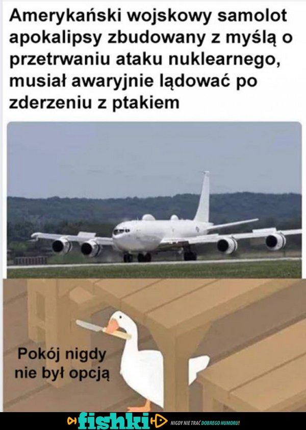 Wojskowy samolot...