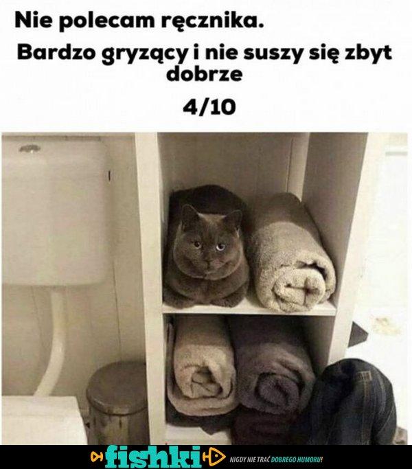 Nie polecam tego ręcznika!