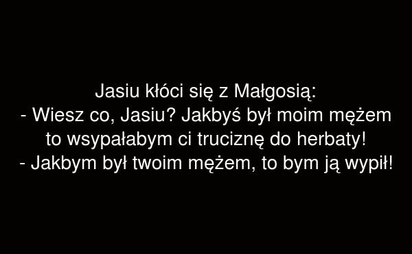 Jasiu kłóci się z Małgosią