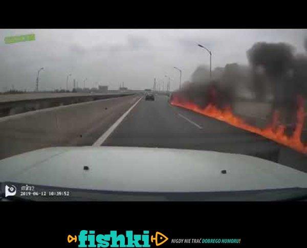 Groźna sytuacja na autostradzie
