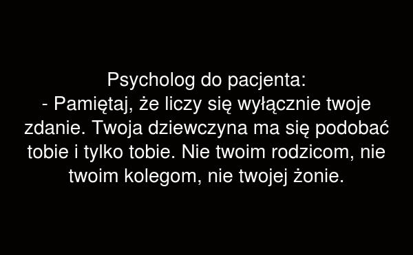 Psycholog do pacjenta: