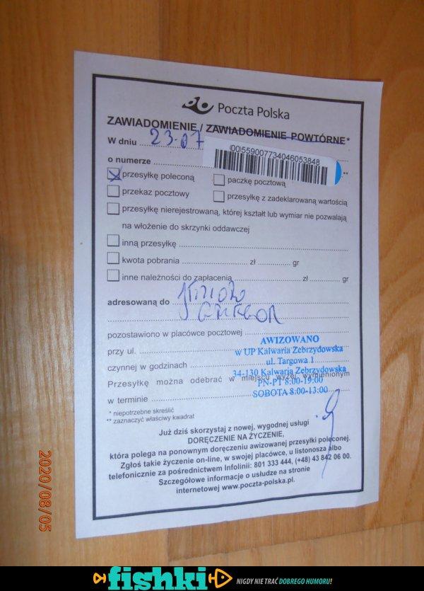 """""""Pełnonocniki"""" i wezwania przesyłane za pomocą Poczty Polskiej  :-) Wzory jednakowe :-) Poczta ratuje gdy bandyta niszczy :-)"""
