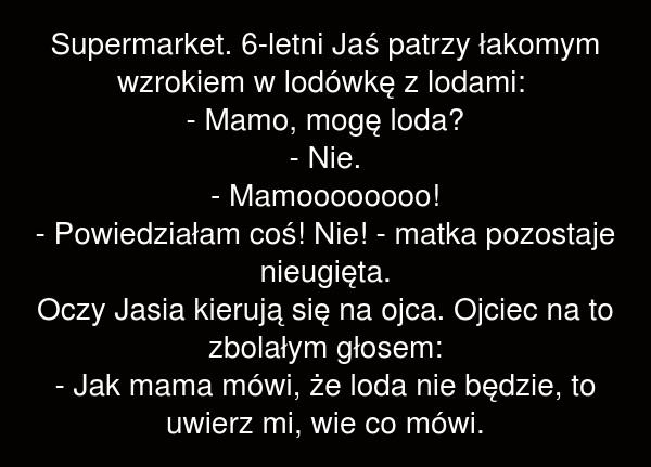 Supermarket. 6-letni Jaś