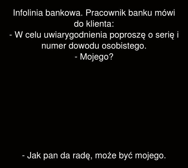 Infolinia bankowa.
