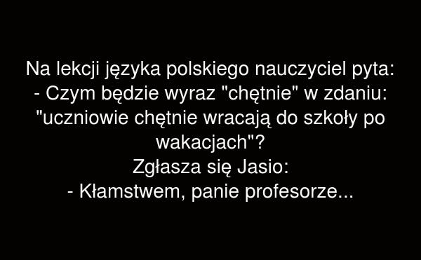 Na lekcji języka polskiego