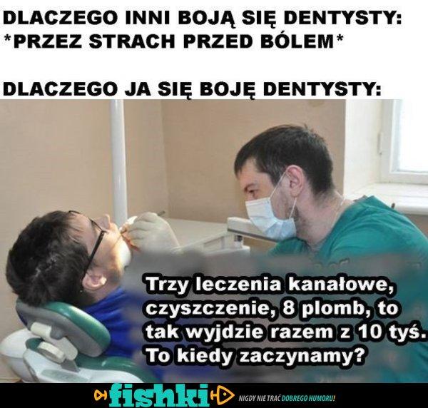 Dlaczego boję się dentysty