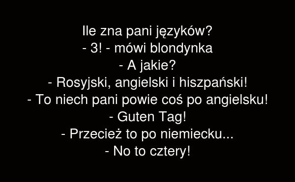 Ile zna pani języków?