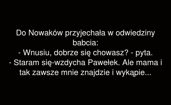 Do Nowaków przyjechała w odwiedziny babcia
