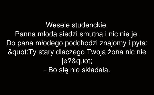 Wesele studenckie.