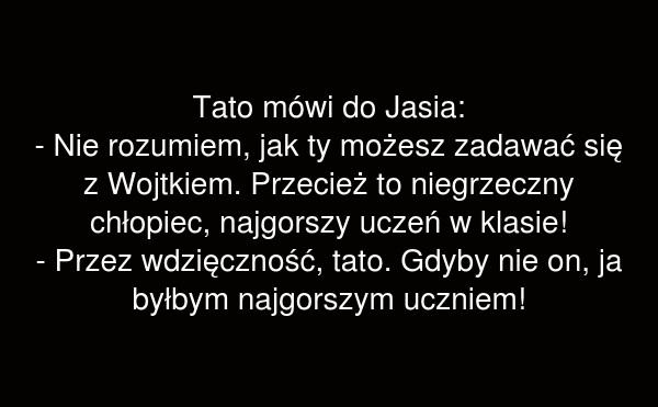 Tato mówi do Jasia: