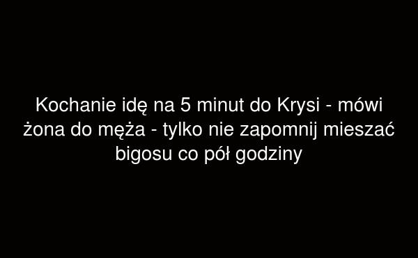 Idę do Krysi