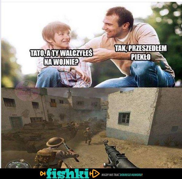 Byłeś na wojnie?